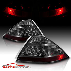 For 2006 2007 Honda Accord Lx ex exl Sedan Smoke Rear Brake Tail Lights Pair