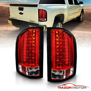 2007 2014 For Chevy Silverado 1500 2500 3500 Hd Red Led Rear Brake Tail Lights