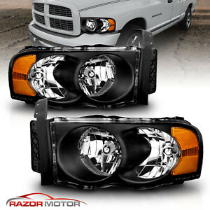 Replacement Headlights For 2002 2005 Dodge Ram 1500 2500 3500 Left Right