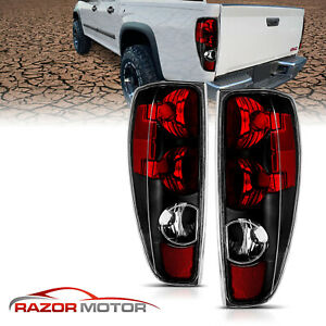2004 2012 Chevy Colorado Gmc Canyon Pickup Truck Black Brake Tail Lights Pair