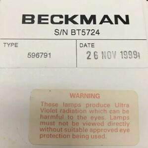 Beckman Du 68 Spectrophotometer Uv Deuterium Lamp Bulb Light 596791