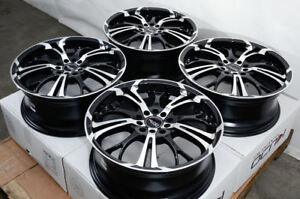 17 Wheels Chevrolet Cobalt Malibu Ford Edge Escape Fusion Black Rims 5x108 110
