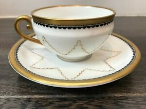 Antique Edelstein Bavaria Porcelain Demitasse Coffee Cup Saucer 1920 S Star