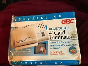 Gbc Docuseal 40 Home office 4 Card Laminator Machine In Original Box
