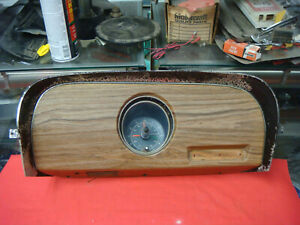 Original 1969 1970 Mustang Mach 1 Wood Grain Clock And Bezel Boss 302 Fastback