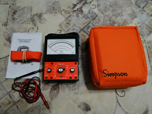 Simpson 260 9sp Industrial Safety Vom With Overload Protection With Carry Case