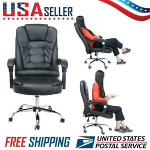 Office Home Chair Leather Desk Gaming Chair With Adjust Seat massage Function A