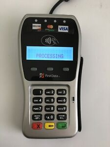 First Data Fd 35 Credit Card Reader Emv Nfc Chip Pin Pad And Mount