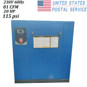 Hpdmc 230v Air 20 Hp Rotary Screw Compressor 3 Phase 81 Air cfm air compressor