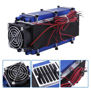 12v 576w 8 chip Tec1 12706 Diy Thermoelectric Refrigeration Air Cooling Device