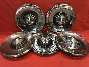 Vintage Set Of 5 1962 Plymouth 14 Hubcaps Fury Belvedere Satellite Mopar
