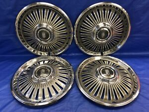 Vintage Set Of 4 1966 Chevrolet 14 Hubcaps Chevy Ii Nova