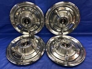 Vintage Set Of 4 1966 Plymouth Deluxe 14 Hubcaps Mopar Fury Belvedere Satellite