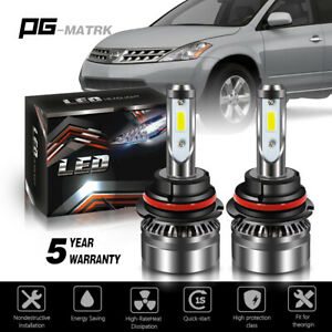 12000lm Led Headlight 9007 Hb5 Hi Low Beams 6000k Bulbs For Nissan Murano 03 07