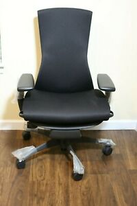 Herman Miller Embody Office Chair Black Rhythm Fabric new