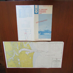Nautical Chart 636 Sc St Johns River Atlantic Ocean Jacksonville May 1972