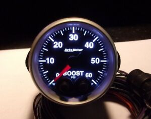 Autometer Competition Peak Warn Boost Gauge 0 60psi Turbo Diesel Blower Nice