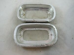 Vintage Pair Of 1960 1966 Chevy Truck Tail Light Bezels