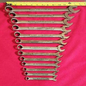 Craftsman Tools 13 Piece 12 Point Combination Wrench Set 1 4