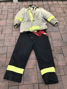 Firefighter Fire Bunker Turnout Gear Globe Jacket 46 Pants 40