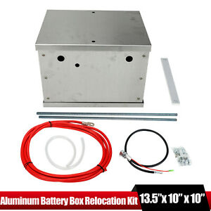 Complete Aluminum Battery Box Relocation Kit Universal Polished Billet Race Pc