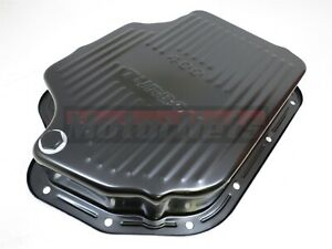 Gm Chevy Turbo 400 Black Automatic Transmission Pan Extra Deep Capacity Th400rod
