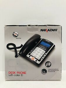 Nakazaki Desk Phone With Caller Id Model 8613 Hands Free
