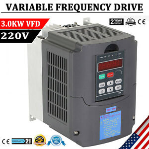 3kw 4hp 220v Variable Frequency Drive Inverter Cnc Vfd Vsd Single To 3 Phase