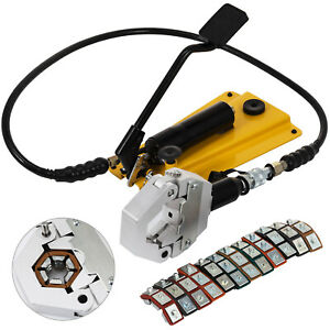 Hydraulic Hose Crimper With Pedal Pump Ferrules Operate Mounting Air Condtioning