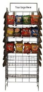 Only Hangers Wire Snack Rack Chip Rack Wire Shelf Snack Display Black