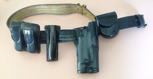 Safariland Police Security Duty Belt 40 Black Leather mdl87 With Buckle holster