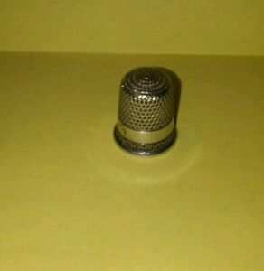 Simons Bros Sterling Thimble Engraved Sterling Size 7