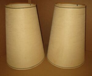 Vintage Mid Century Modern Pair Of Lamp Shades