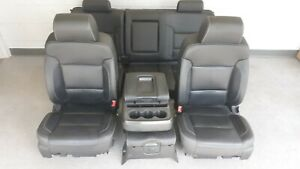 15 Chevy Silverado 2500 Ltz Black Leather Seats Center Console