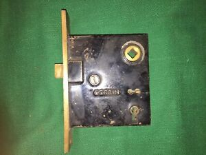 1 Antique Mortise Key Door Lock Corbin Brass Face Working No Key 2 Available