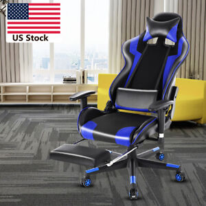 180 Lying Computer Gaming Chair Racing High Back Recliner Executive Footrest