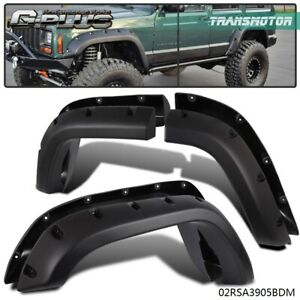 Cut Out Style Fender Flares Fit For 84 01 Jeep Cherokee Xj Sport Utility 4 Door