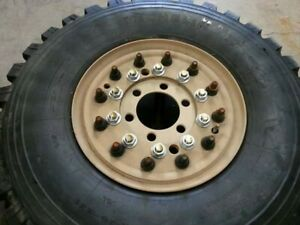6 Michelin 395 85r20 Mrap Wheel Tires Military 2 5 Ton Adapter Plates Hs Bolts