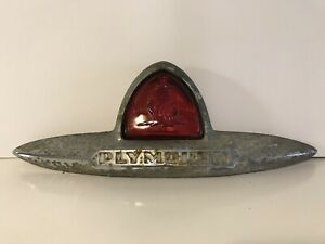 1946 1947 1948 Plymouth Sedan Vintage Original Trunk Emblem Brake Stop Light