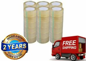 36 Rolls Box Carton Sealing Packing Packaging Tape 2 x110 Yards Clear