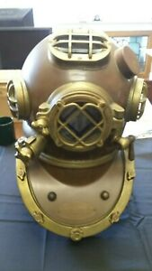 Replica U S Navy Mark V 18 Diving Helmet Copper And Brass