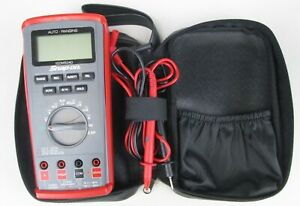 Snap On Eedm504d Auto range Digital Multimeter Soft Case Leads Tested Working