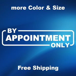 By Appointment Only Business Store Sign Sticker Window Door Wall Stickers Decals