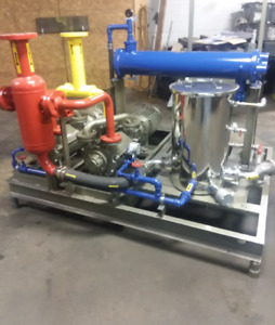 Liquid Ring Skid Dual Stainless Pumps And Piping 29 900 Cfm Sihi Dekker
