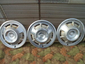3 1967 67 Chevy Camaro 14 Inch Hubcaps Hub Caps Wheel Covers Used Not Perfect