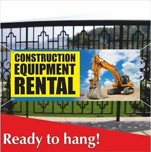 Construction Equipment Rental Banner Vinyl Mesh Banner Sign Tools Machines