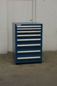 Used Vidmar 9 Drawer Cabinet 44 Inch Tall Industrial Tool Storage 1703