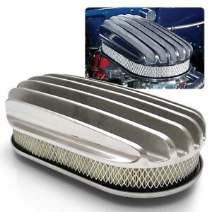 15 Oval Deep Full Finned Air Cleaner And Element Vintage