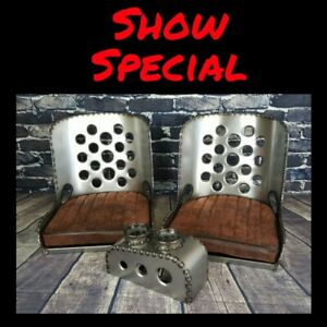 Iron Ace show Special Hot Rod Rat Rod Bomber Seat s W Cushions