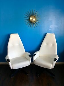 Mid Century Modern Adrian Pearsall Lounge Chairs Craft Associates Eames Era